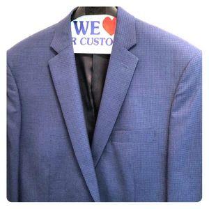 Tailor fit Calvin Klein men's navy blue blazer